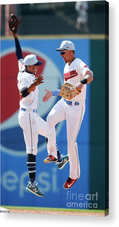 People Acrylic Print featuring the photograph Minnesota Twins V Cleveland Indians by Ron Schwane