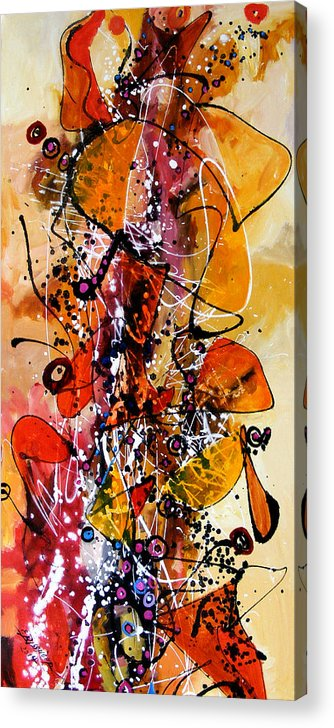 Abstract Acrylic Print featuring the painting Aripi De Toamna 2 by Elena Bissinger
