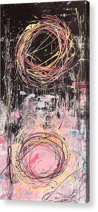 Abstract Acrylic Print featuring the painting Duality by Kim Heil