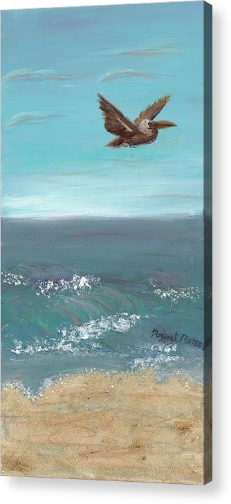 Bird Acrylic Print featuring the painting Flying Solo by Maggie Morrison