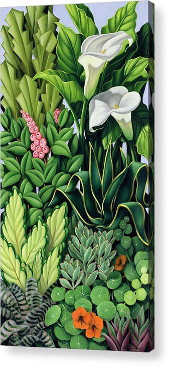 Foliage Acrylic Print featuring the painting Foliage by Catherine Abel