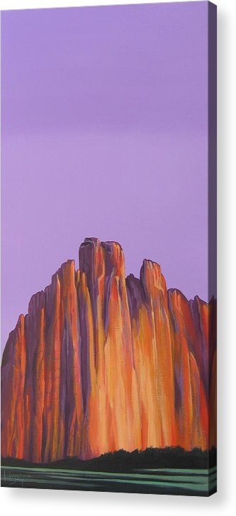 Landscape Acrylic Print featuring the painting Inscription Rock by Hunter Jay