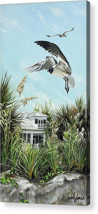 Bird Acrylic Print featuring the painting North Shore Landing by Joan Garcia