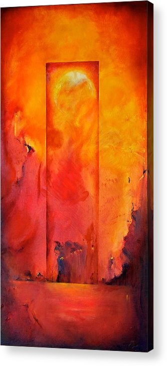 Abstract Acrylic Print featuring the painting Sisters Of Mercy by Heidi Lee