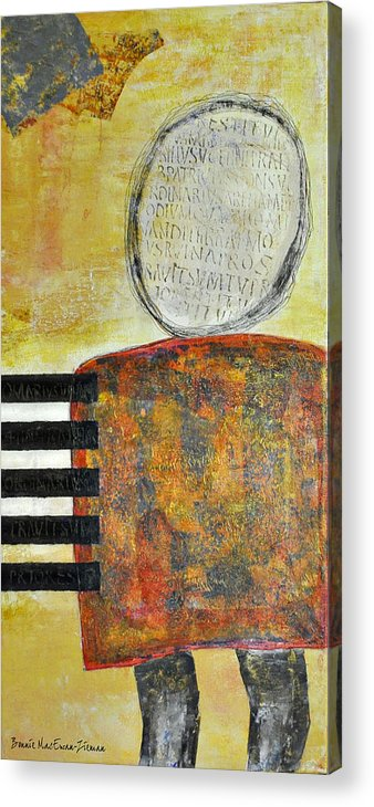 Abstract Acrylic Print featuring the mixed media Take Note by Bonnie Zieman