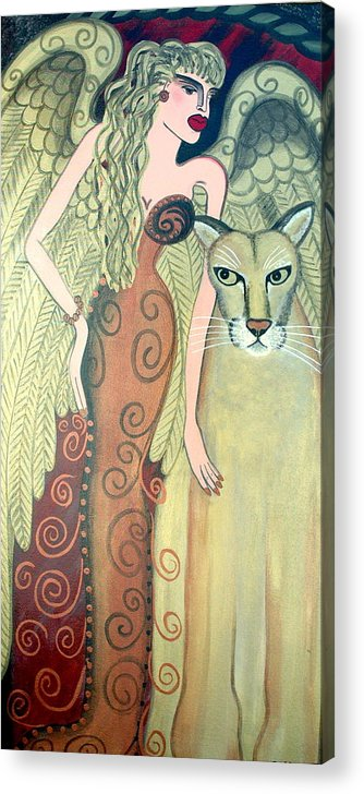 Angel Artwork Acrylic Print featuring the painting A Endangered Species by Helen Gerro