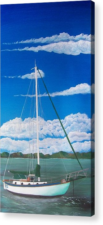 Anchored Acrylic Print featuring the painting Anchored by Tony Rodriguez