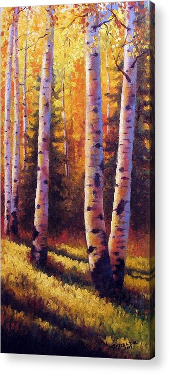 Light Acrylic Print featuring the painting Golden Light by David G Paul
