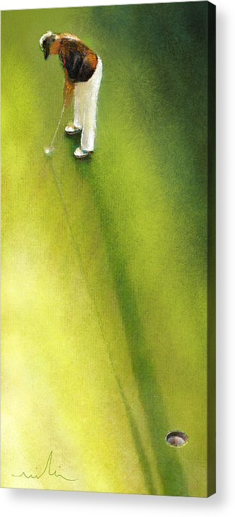 Golf Acrylic Print featuring the painting Golf In Spain Castello Masters 03 by Miki De Goodaboom
