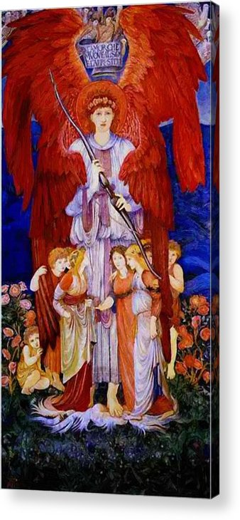 Love Acrylic Print featuring the painting Love by BurneJones Edward