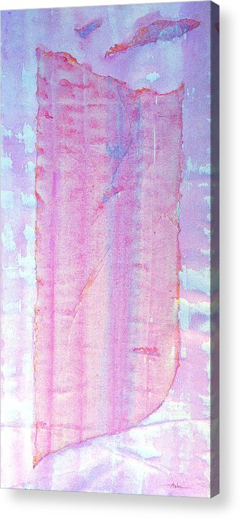 Abstract Painting Acrylic Print featuring the painting Sailing Toward Evening by Asha Carolyn Young