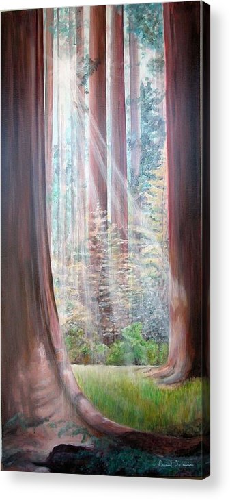 Landscape Acrylic Print featuring the painting Sequoia by Muriel Dolemieux