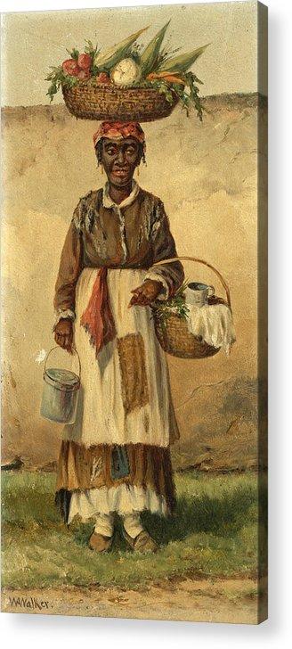 William Aiken Walker Acrylic Print featuring the painting Standing Woman by William Aiken Walker