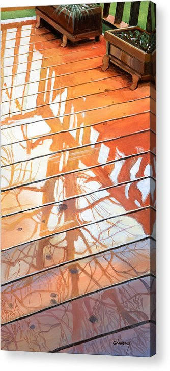 Oregon Acrylic Print featuring the painting Wet Deck 2 by Melody Cleary