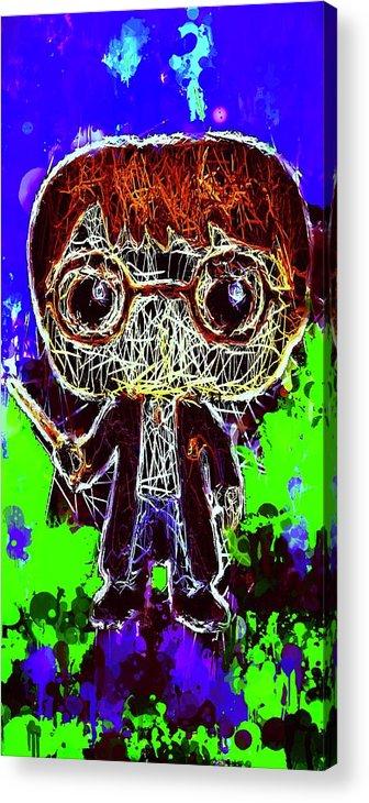 Unko Pop Acrylic Print featuring the mixed media Harry Potter Pop by Al Matra