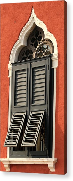 Venice Acrylic Print featuring the photograph Window In Venice by Michael Henderson