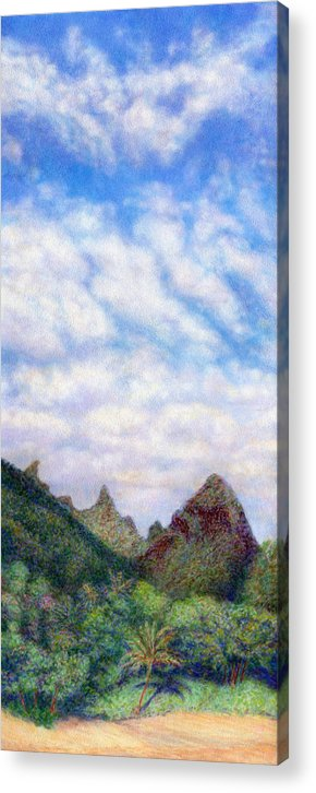 Coastal Decor Acrylic Print featuring the painting Island Sky by Kenneth Grzesik