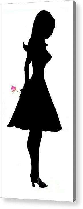 Silhouette Acrylic Print featuring the digital art Thinking Of You by Jo Baby