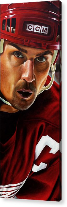 Sports Acrylic Print featuring the painting Stevie Y by Marlon Huynh