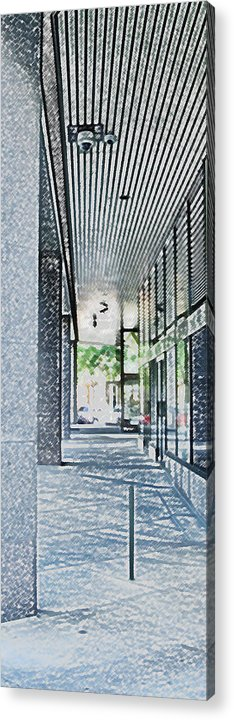 Building Acrylic Print featuring the photograph Light At The End by Ian MacDonald