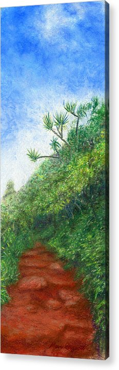 Coastal Decor Acrylic Print featuring the painting Along The Trail by Kenneth Grzesik