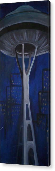 Seattle Acrylic Print featuring the painting Seattle by Lauren Luna