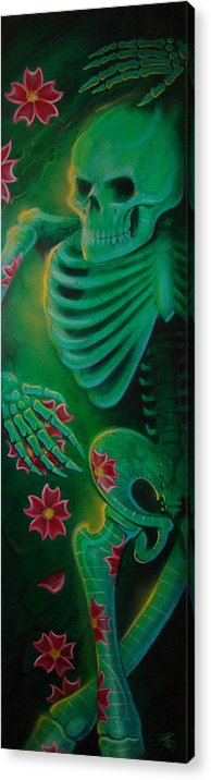 Body Acrylic Print featuring the painting Skeleton Charm by Joshua South