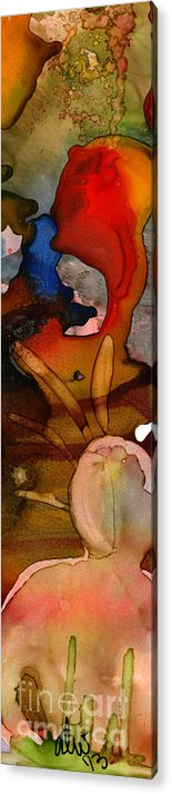Ink Acrylic Print featuring the painting Pleasant Thoughts by Angela L Walker