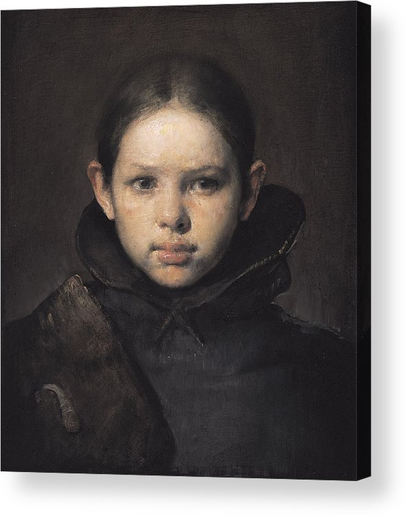 Oil Acrylic Print featuring the painting Amo by Odd Nerdrum