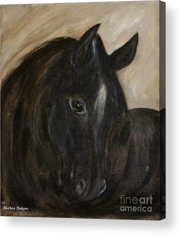 Arion Acrylic Print featuring the painting Arion by Barbie Batson