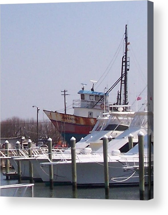 Boat Acrylic Print featuring the photograph Boats Docked by Pharris Art