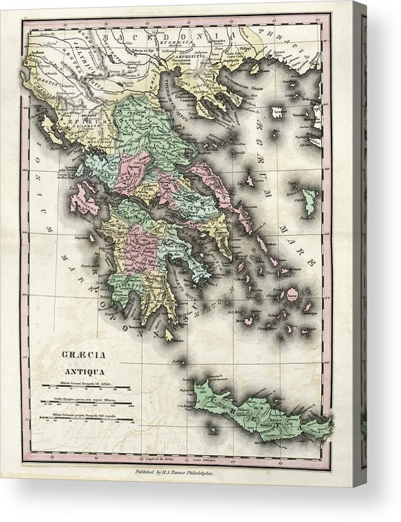 image about Printable Map of Ancient Greece identify Map Of Historic Greece Acrylic Print