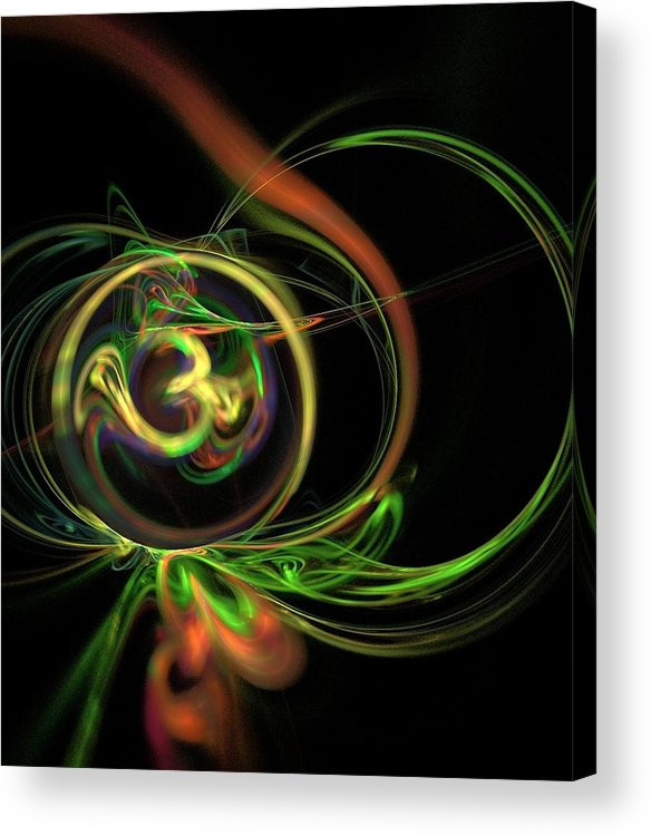 Omkar Acrylic Print featuring the digital art Omkaar by Jyoti Rane