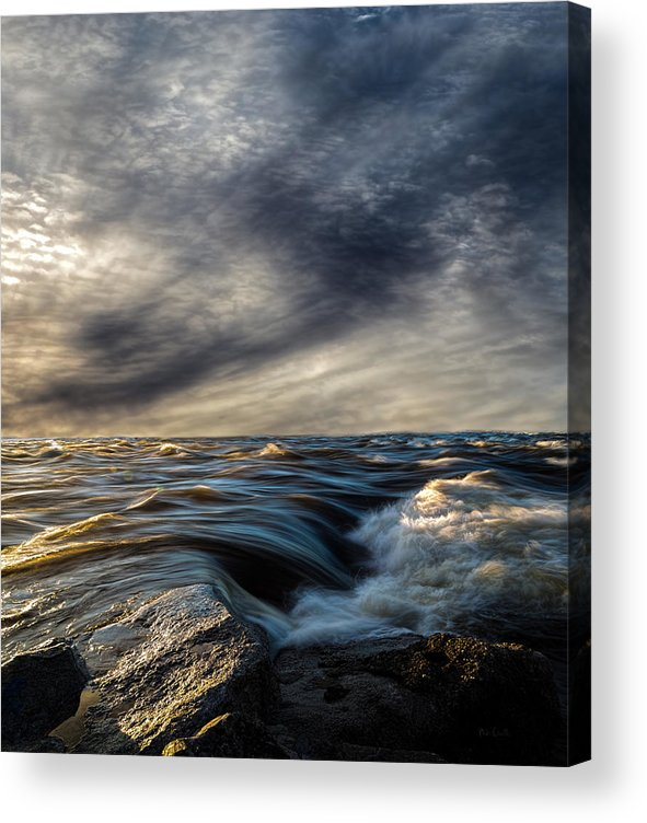 Nature Acrylic Print featuring the photograph Where The River Kisses The Sea by Bob Orsillo