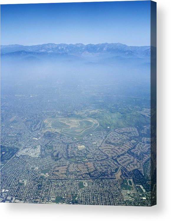Los Angeles Acrylic Print featuring the photograph Air Pollution Over Los Angeles by Detlev Van Ravenswaay