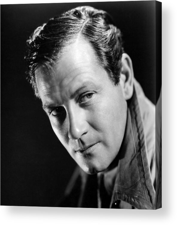 1940 Movies Acrylic Print featuring the photograph Foreign Correspondent, Joel Mccrea, 1940 by Everett