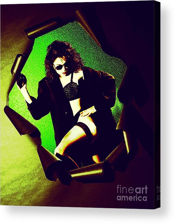 Model Acrylic Print featuring the photograph Jane Joker 3 by Gary Gingrich Galleries