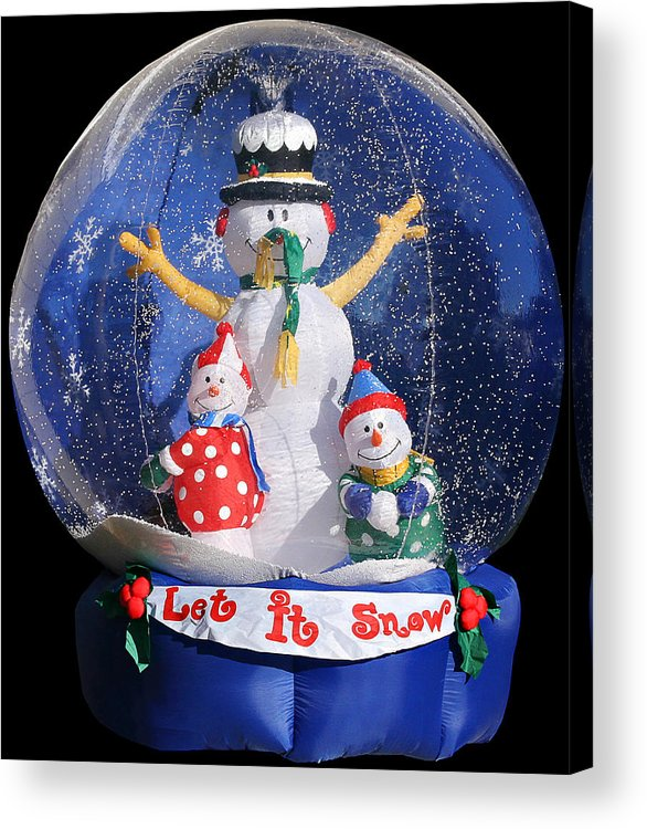 Weird Acrylic Print featuring the photograph Let It Snow by Christine Till