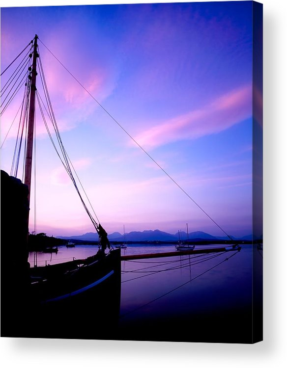 Blue Sky Acrylic Print featuring the photograph Roundstone by The Irish Image Collection