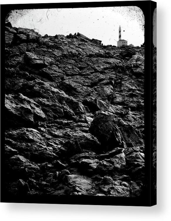 Stone Acrylic Print featuring the photograph The Lighthouse1 by Pedro Cardona Llambias
