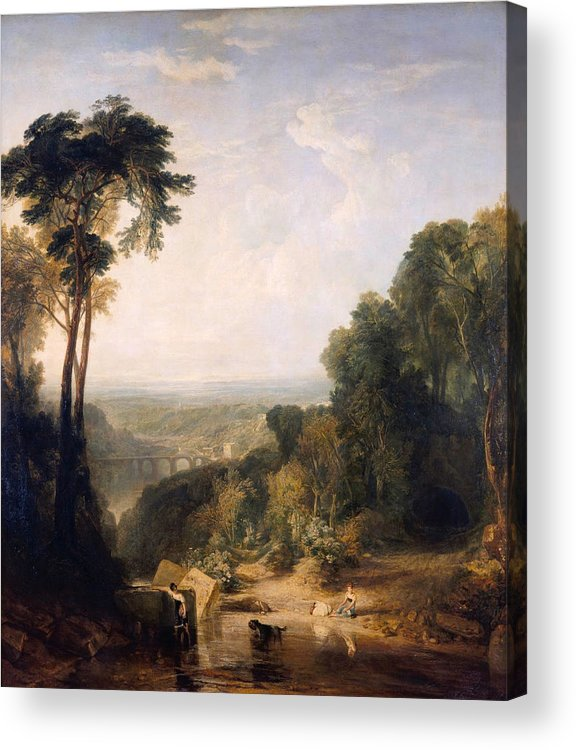 Bridge Acrylic Print featuring the painting Crossing The Brook by JMW Turner