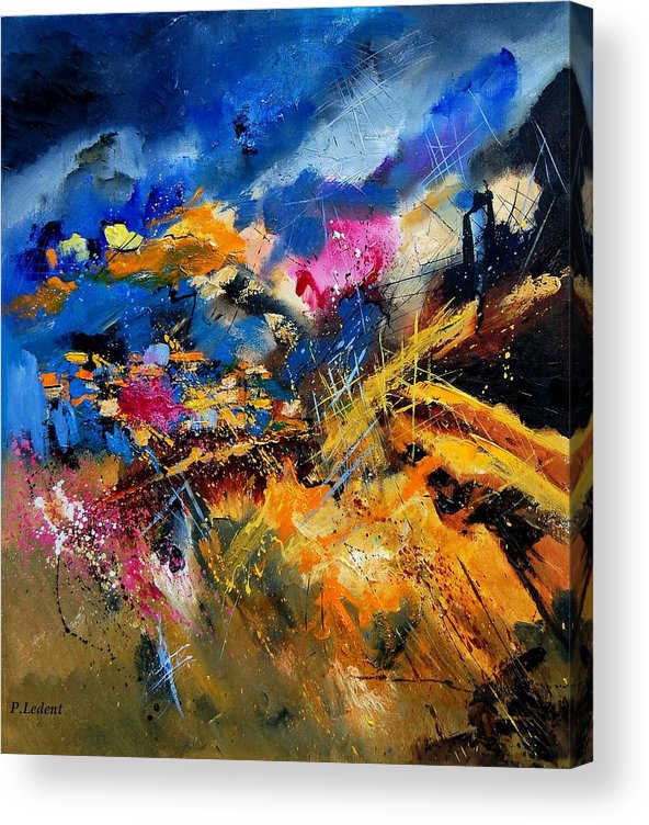 Abstract Acrylic Print featuring the painting Abstract 7808082 by Pol Ledent