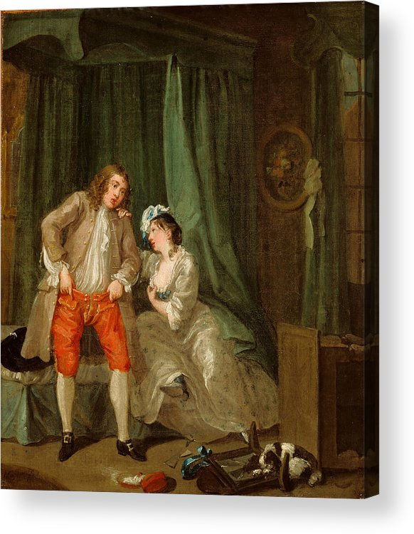 William Hogarth Acrylic Print featuring the painting After by William Hogarth