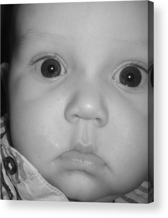 Baby Acrylic Print featuring the photograph Baby Face by WaLdEmAr BoRrErO