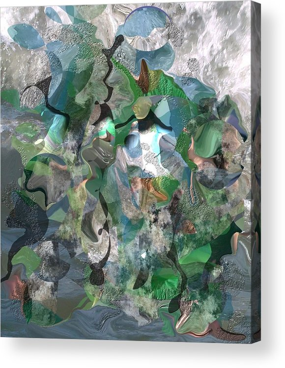 Beach Acrylic Print featuring the digital art Beach Collage by Peter Shor