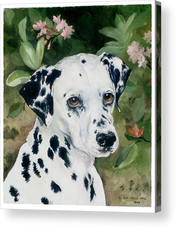 Portrait Acrylic Print featuring the painting Beaudiddeley by Eileen Hale