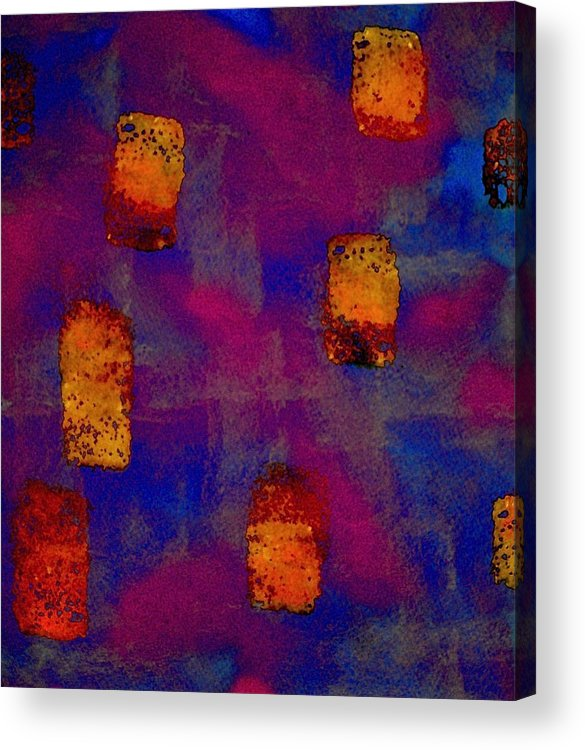 Acrylic Print featuring the painting Burnt Orange Floating by Chris Riley