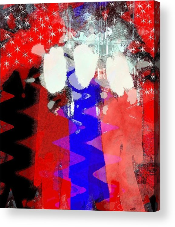 4th Of July Acrylic Print featuring the painting Celebration 3 by Mimo Krouzian