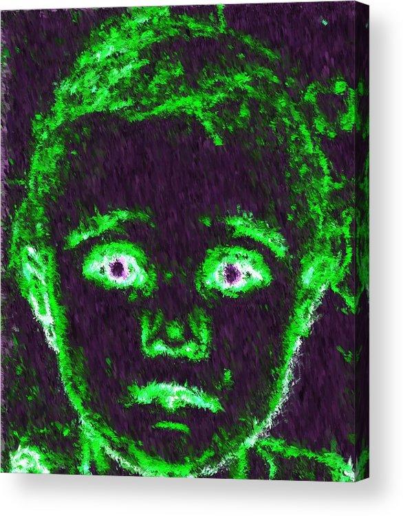 Child Acrylic Print featuring the painting Child Aura by Maribel McIntosh