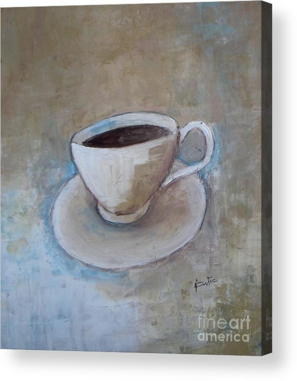 Restaurant Acrylic Print featuring the painting Coffee by Vesna Antic